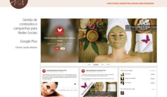 Gestão de conteúdo e campanhas Studio Sandra Martins