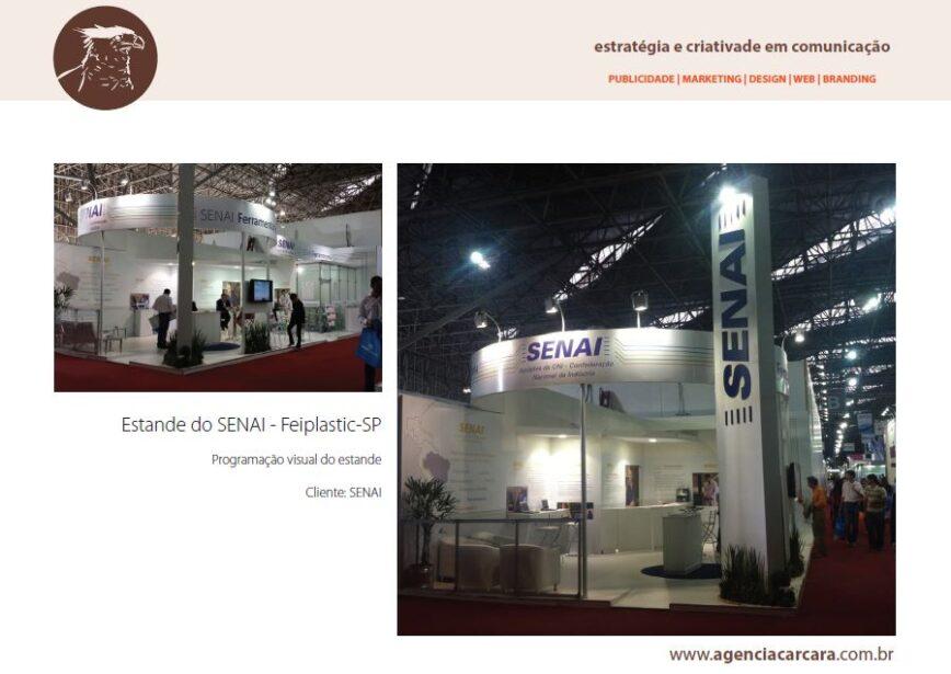 Estande do SENAI no Evento Feiplastic em São Paulo