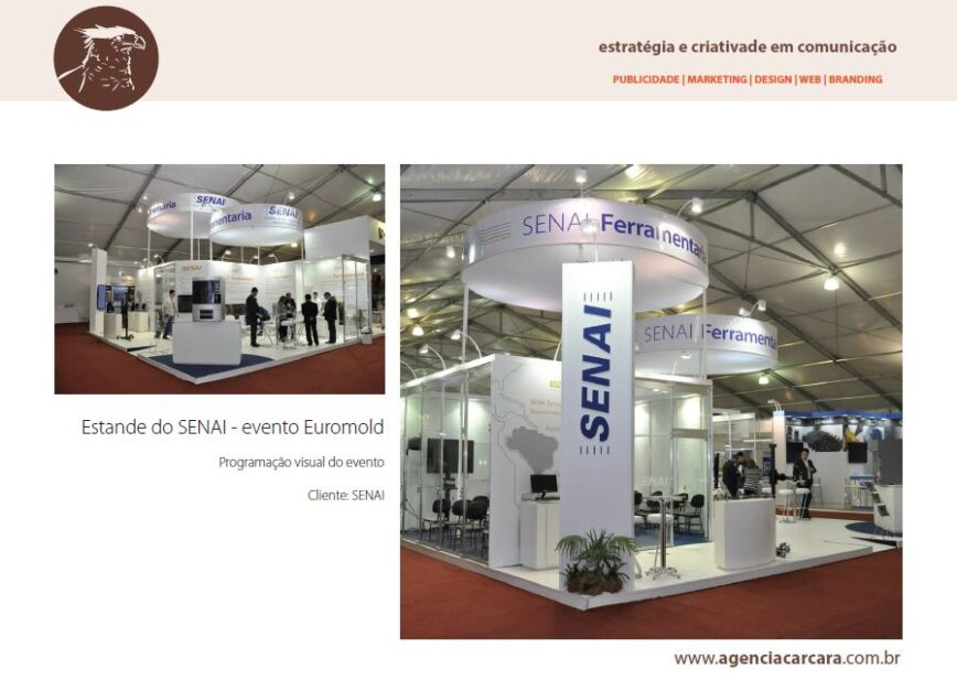 Estande do SENAI no Evento Euromold