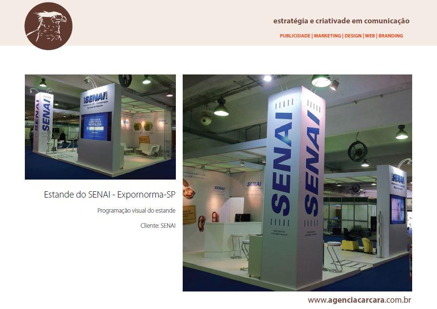 Estande do SENAI na Expornorma em São Paulo