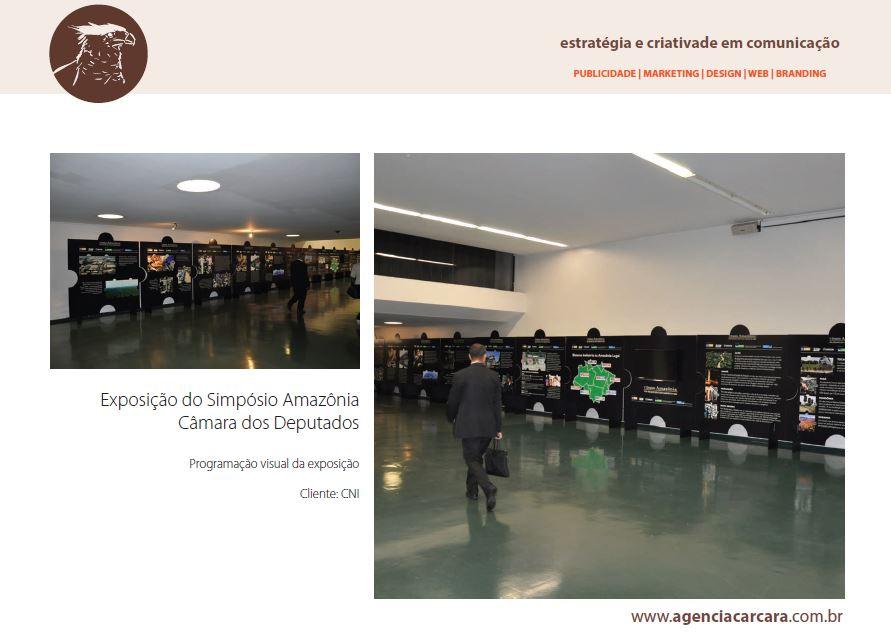 Exposição do Simpósio Amazônia na Câmara dos Deputados