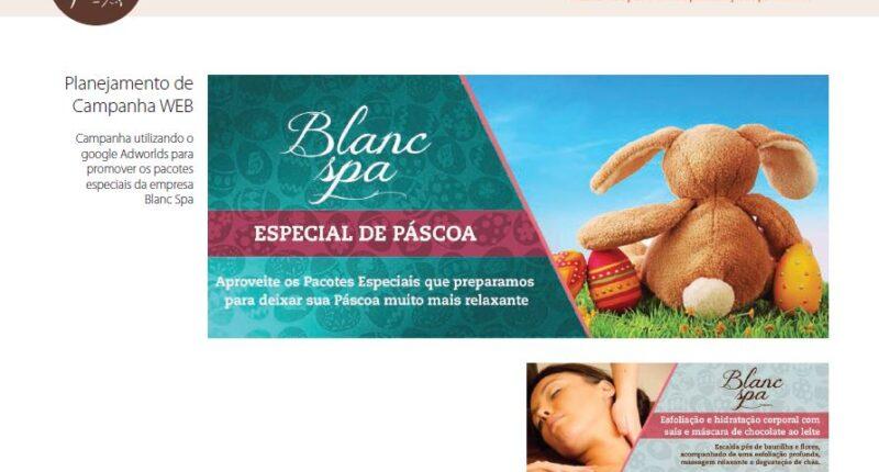 Planejamento de campanha WEB da Páscoa AdWords Blanc SPA