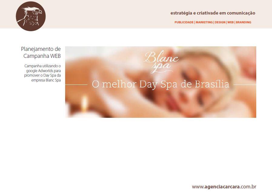 Campanha WEB de Day SPA para o Blanc SPA