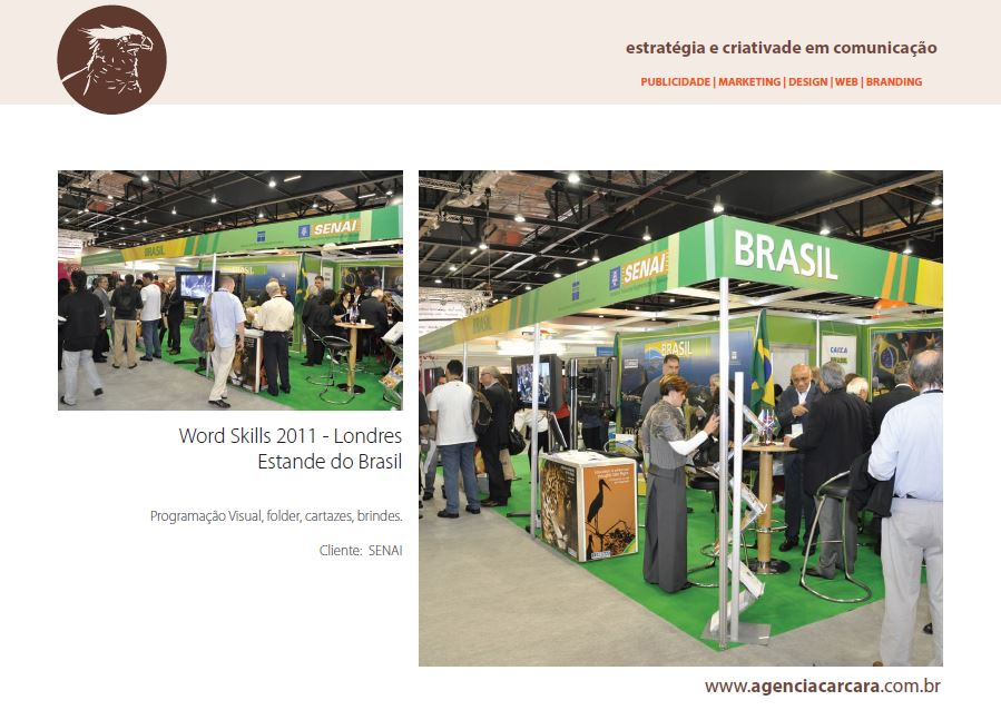 Word Skills 2011 estande do SENAI em Londres