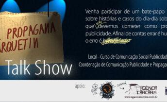 Esse talk show da Agência Carcará será na Faculdade Projeção de Taguatinga para os alunos do Curso de Comunicação Social, Publicidade e Propaganda.