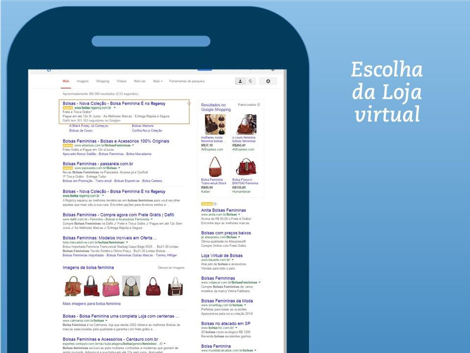 Busca orgânica x busca paga Busca orgânica – São os resultados obtidos ao lado esquerdo, que o Google achou relevante a uma determinada pesquisa. O clique não é cobrado através da busca natural.