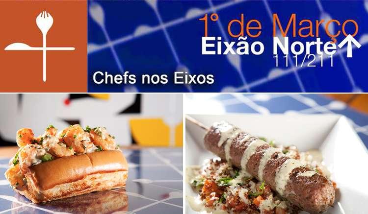 """Os Food Trucks invadiram mesmo Brasília, e cada vez mais tem crescido o número de """"carrinhos de comida"""" pela cidade e estarão no primeiro Chefs nos Eixos de 2015."""