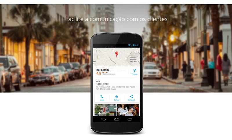 Inicie uma conversa com seu público O Google Meu Negócio ajuda a construir uma base de fãs leais. Os clientes podem expressar a satisfação com avaliações e comentários, usar o botão +1 para endossar o conteúdo e compartilhar suas postagens no Google+ em toda a Web.