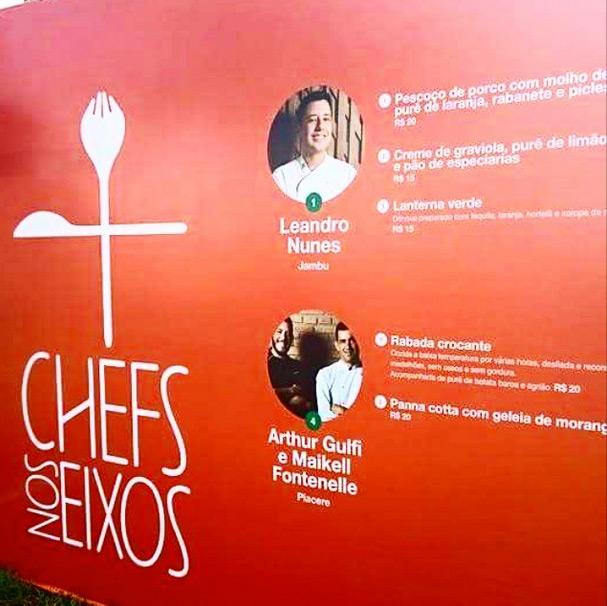 E você gostou do Chefs nos Eixos 3? Acabamos de chegar, um pouco ensopados hehehe, mas não poderíamos deixar de ir no Chefs nos Eixos 3ª edição que ocorreu no domingo dia 26 de abril de 2015, no Eixo Monumental debaixo de uma baita chuva em Brasília.