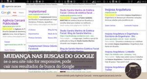 Mas a partir de 21 de abril isso vai mudar: O Google começará a utilizar a otimização para dispositivos móveis como um critério importante na hora de avaliar os sites em seu ranking e afetará tanto as buscas através de smartphones quanto as em desktop em todas as línguas.