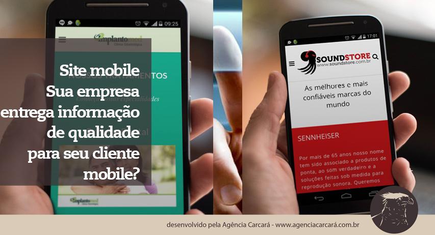 Hoje empresas e marcas precisam estar presentes no mundo mobile! A cada dia o acesso à internet no Brasil cresce por meio dos dispositivos mobile! Sua marca ou empresa está preparada para gerar informações de qualidade para esse público mobile? O site de sua empresa possui acesos mobile hoje?