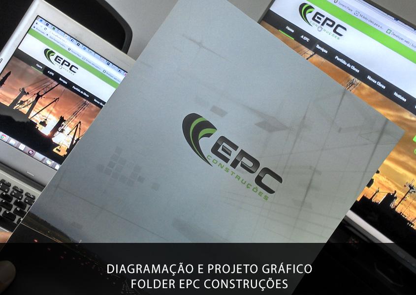 Nesse segundo trabalho para a EPC Construções, após a criação de uma apresentação empresarial, chegou a hora de personificar por meio de um folder, todas as obras já realizadas e as obras que estão em andamento.