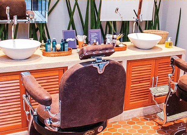 Barbearia L'Occitane  Fica no spa da marca na Vila Nova Conceição e oferece tratamentos de 30 a 45 minutos, que usam os perfumados produtos da grife francesa.