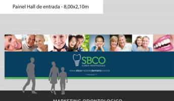Com base no trabalho realizado para a criação da marca, elaboramos a nova programação visual da SBCO Clínica Odontológica. Identidade essa que fará parte também da composição do site da clínica.