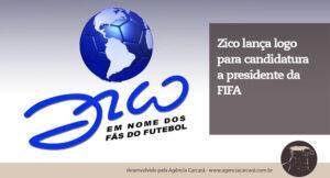 Foi divulgada neste domingo a logomarca da campanha de Zico à presidência da Fifa, desenvolvida por Hans Donner.