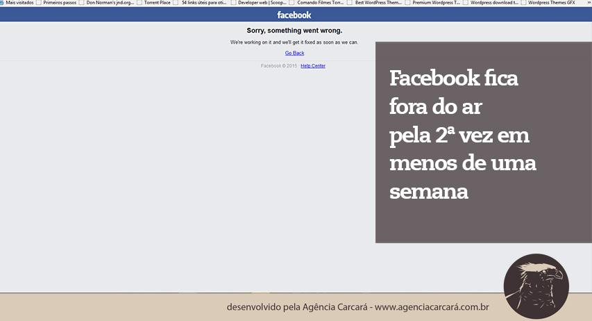 Agora às 16h25 todas as FanPages de nossos clientes estão fora do ar! Sim o Facebook está fora ar!!