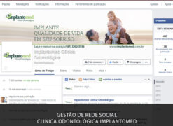 Gestão de Rede Social: Facebook Marketing para a Clínica Odontológica de Implante Dentário. Um dos importantes pilares do marketing odontológico em Brasília.
