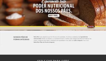 Gestão de SEO e otimização de site em Brasíllia para a fábrica de pães integrais NutryPan