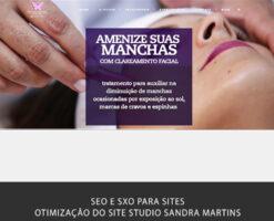 Realização de SEO, SXO e otimização de site para os motores de busca do site do Studio Sandra Martins de Estética Facial. SEO para SPA e Clínica Estética