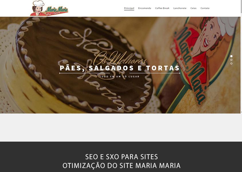 SEO e otimização de site em Brasília para o site da casa de pães Maria Maria em Taguatinga.