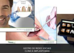 Gestão de Redes Sociais (Social Mídia) e Marketing Odontológico da clínica odontológica Implantomed.