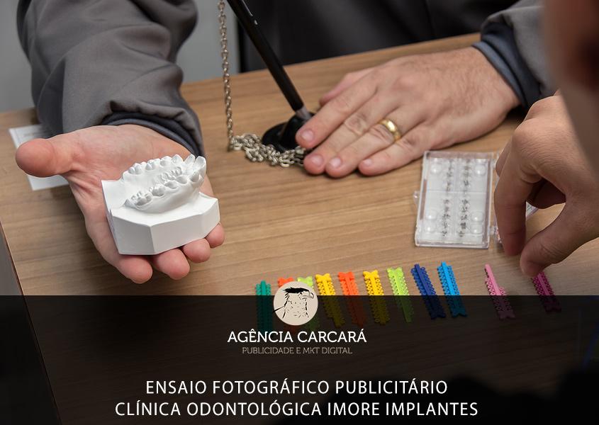 Projeto de Marketing Odontológico da Clínica Imore Implantes, nessa primeira etapa sendo realizado ensaio fotográfico publicitário.