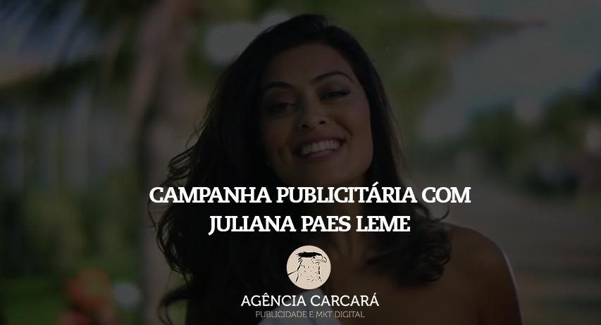 E nada como levar para uma marca valor agregado, e foi assim com nossa campanha publicitária com a atriz Juliana Paes para uma incorporadora de Goiânia.