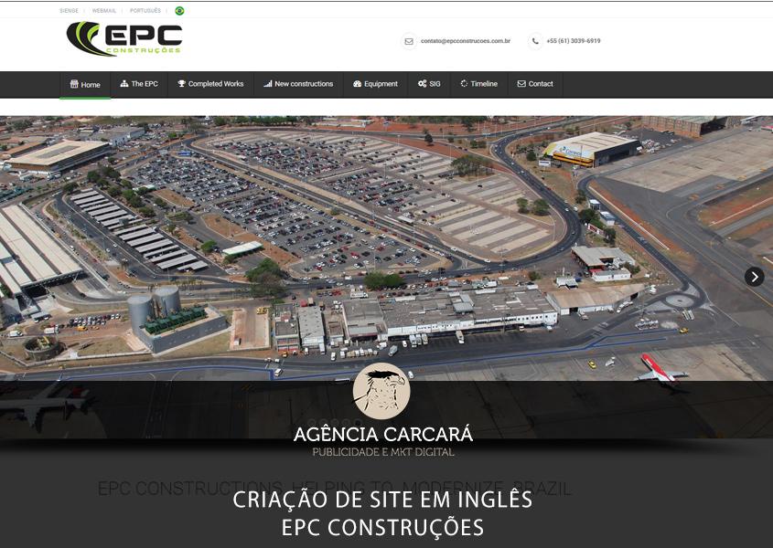 Criação do site em inglês para a EPC Construções