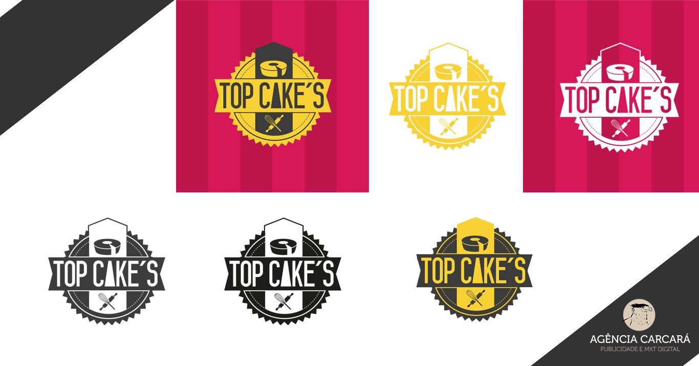 Criação logomarca casa de bolo caseiro Top Cakes