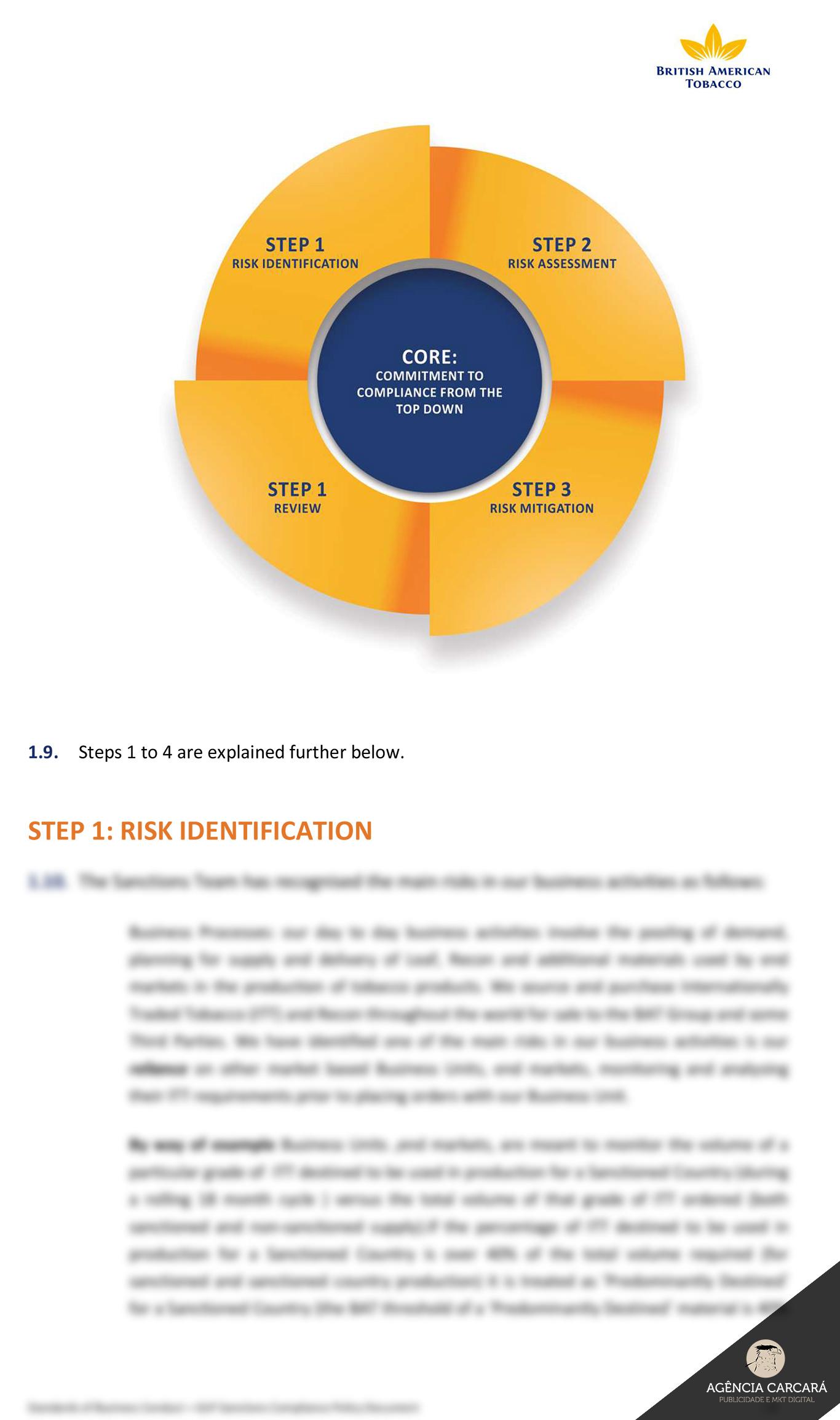 Diagramação e Projeto Gráfico para documentação estratégic e tática da Souza Cruz e British American Tobacco