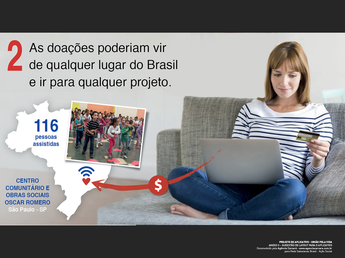 Criação Infográfico para Rede Salesiana Brasil de Ação Social para o projeto União Pela Vida. Para compor projeto de criação de aplicativo móvel.