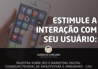 Palestra ministrada pela Agência Carcará sobre a importância do SEO e o Marketing Digital no Setor Público, para o Conselho Federal de Arquitetura e Urbanismo.