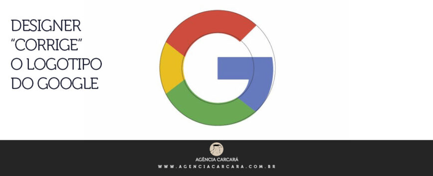 Designer corrige o logotipo do Google