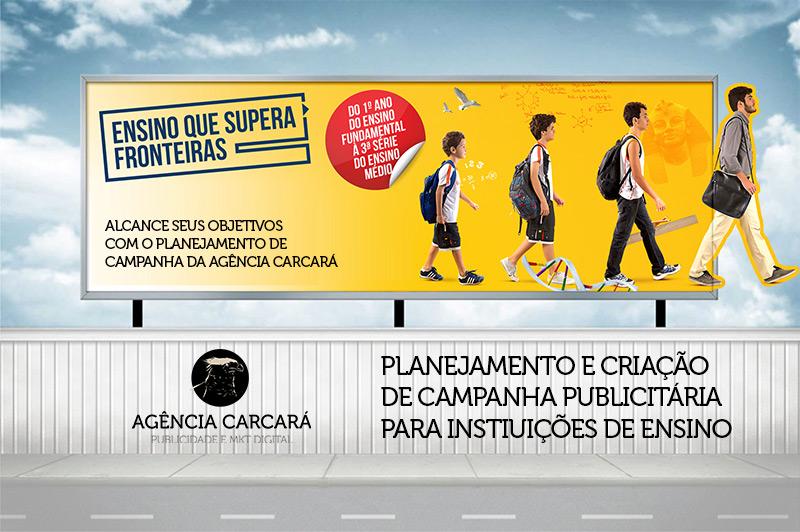 Criação de campanha para matrícula e rematrícula de colégios, escolas, faculdades e universidades.