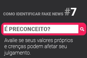 Quais os primeiros passos a serem seguidos na detecção de fake news?