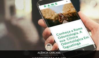 A principal ferramenta do Marketing Odontológico é sem dúvidas o site. E essa foi a nossa intenção com a modernização do site da Rame Odontologia em Taguatinga.