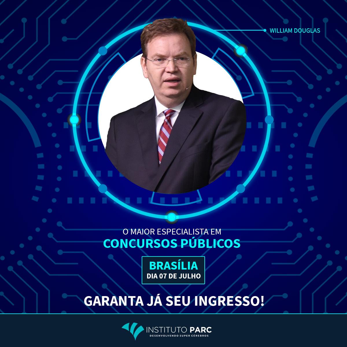 """A Agência Carcará é a responsável pela campanha publicitária para a palestra de William Douglas o """"Guru dos concursos públicos"""", que ocorrerá no dia 7 de julho de 2018 em Brasília."""