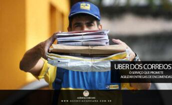 Para reduzir o prazo de entregas em algumas modalidades, os Correios planejam lançar um aplicativo como o da Uber para conectar entregadores autônomos e clientes.