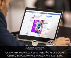 Projeto de Campanha de matrícula 2019 para o Centro Educacional Sagrada Família - SAFA onde desenvolvemos uma gama de publicações, durante 6 meses, nas redes sociais para fomentar a captação de novos alunos.