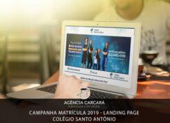Projeto de Campanha de matrícula 2019 para o Colégio Santo Antônio onde desenvolvemos uma Landing Page