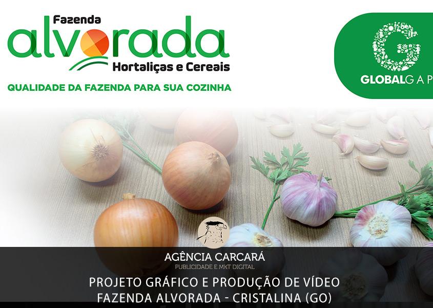 Comunicação visual estratégica para evento institucional da Fazenda Alvorada e produção de vídeo promocional para campanhas publicitárias