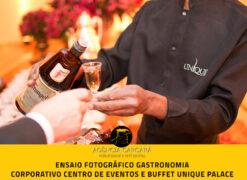 Fotografia publicitaria gastronômica evento corporativo Centro de Eventos e Buffet Unique Palace