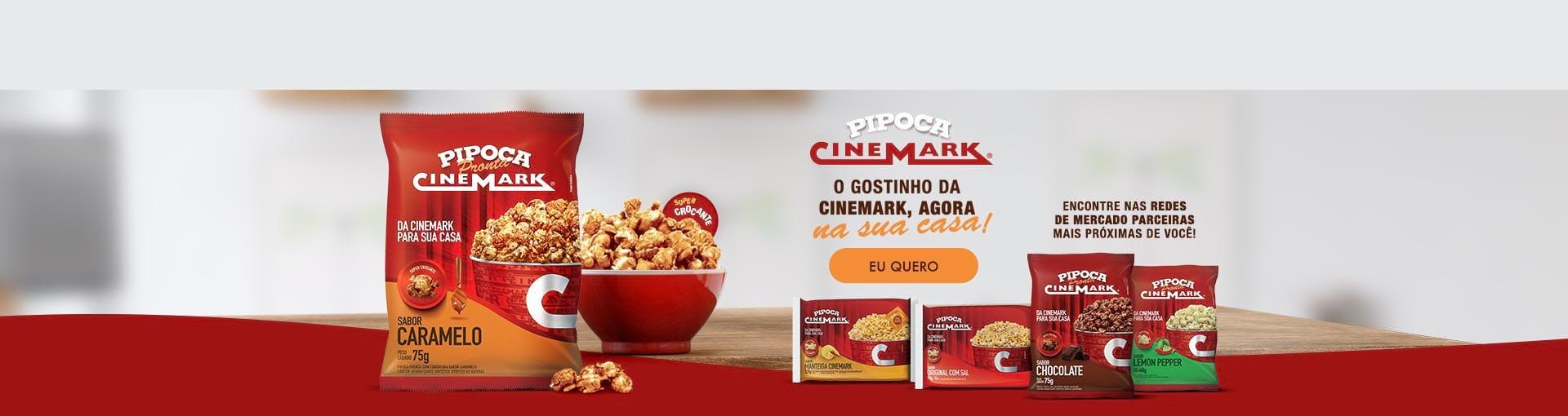 A rede Cinemark faz uma ação e tanto de branding durante a pandemia do covid 19 (coronavirus). Lança linha de pipocas prontas e para micro-ondas em parceria com Magalu e a plataforma B2W