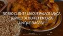 Nosso cliente Unique Palace lança serviço de buffet em casa! Comida de festa com o Unique em Casa. A novidade visa uma apresentação diferenciada dos pratos para proporcionar nas residências uma experiência de buffet de festa