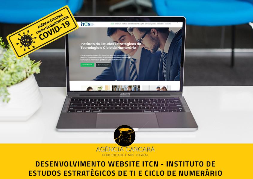 Desenvolvimento site ITCN Instituto de Estudos Estratégicos de Tecnologia e Ciclo de Numerário