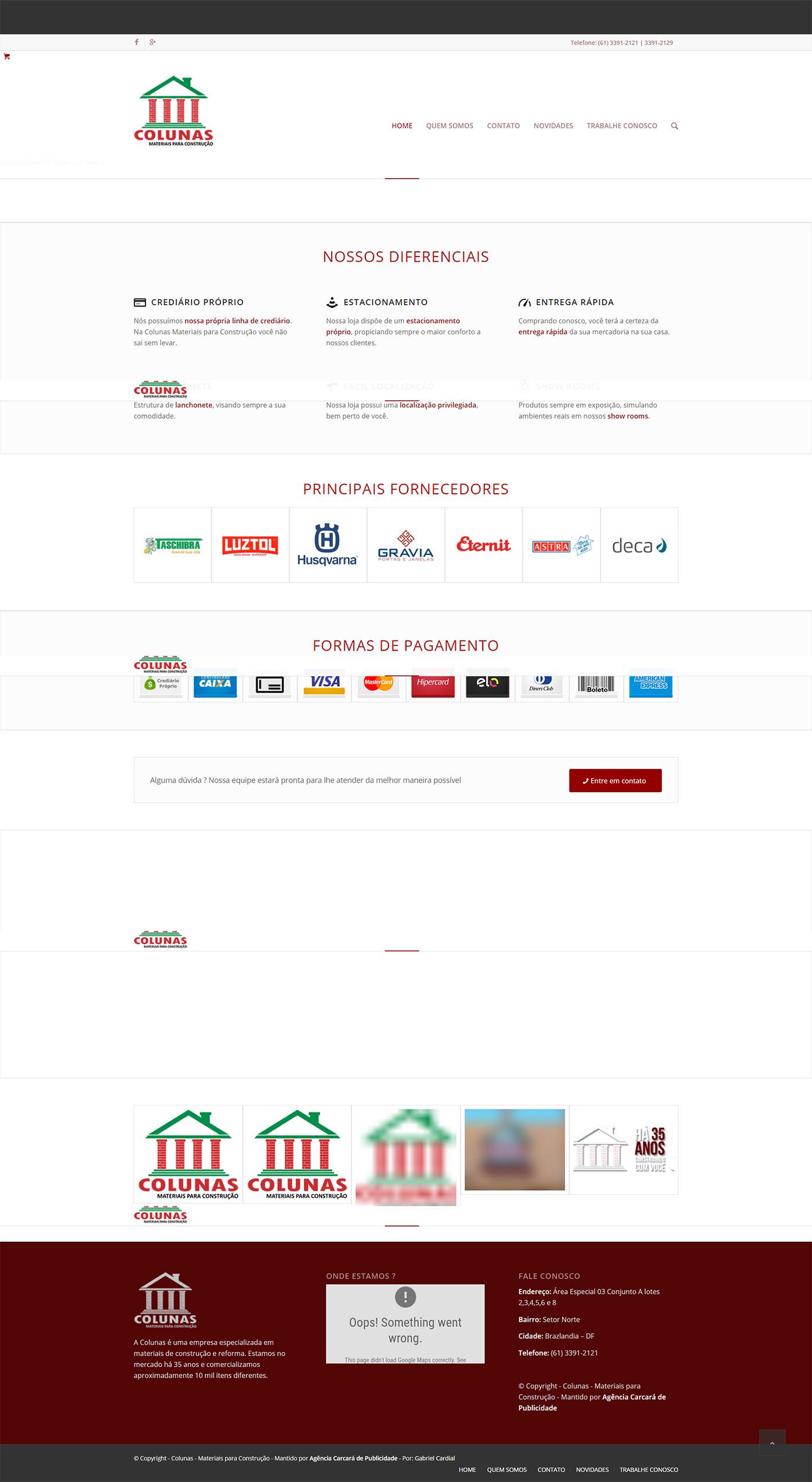 Modernização site Coluna Home Center, um dos pilares para qualquer planejamento de marketing digital para empresas de material para construção