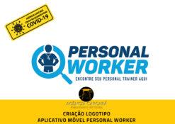 Criação logomarca aplicativo móvel Personal Worker