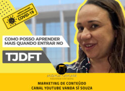 Marketing de conteúdo e design gráfico para compor vídeos do Canal do Youtube de Vanda Sí Souza.