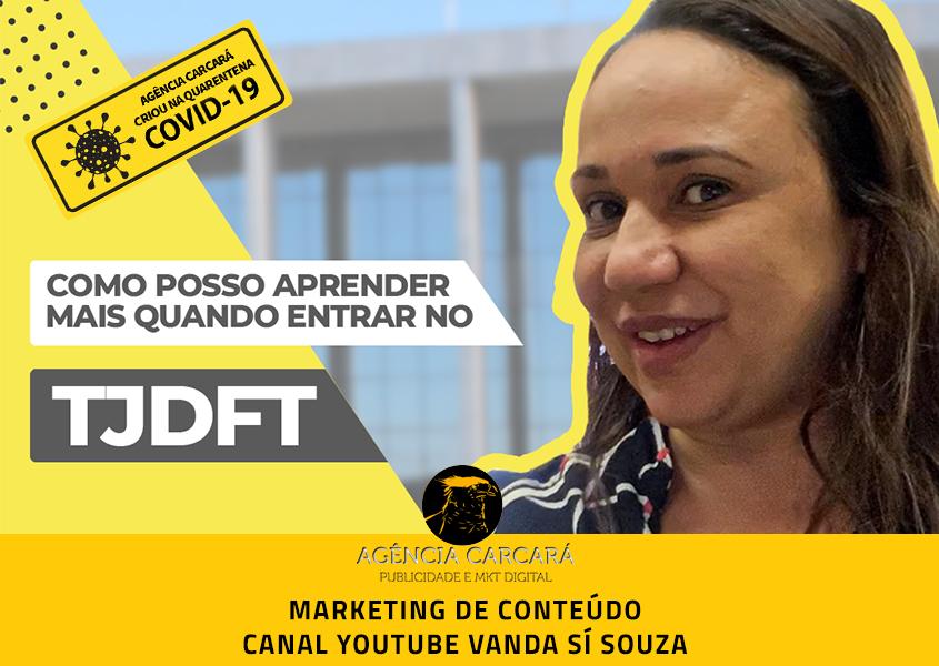 Marketing de conteúdo e design gráfico para compor vídeos do Canal do Youtube de Vanda Sí Souza.