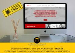 Desenvolvimento do site em Wordpress para o escritório CCA Advogados Associados, com conteúdo em versão em inglês